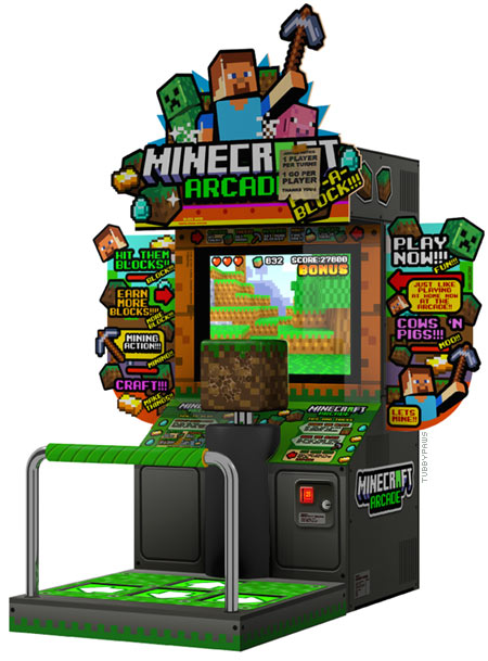 minecraft arcade machine