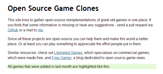 Open Source Game Clones